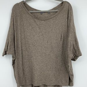 Vince Women's small Top blouse knit t-shirt brown